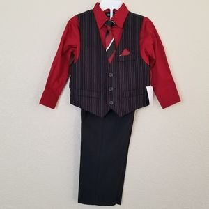 Holiday Editions 4-Piece Dress Vest Set 2T NEW